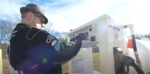 McAbee employee easily handles refueling at their onsite installation
